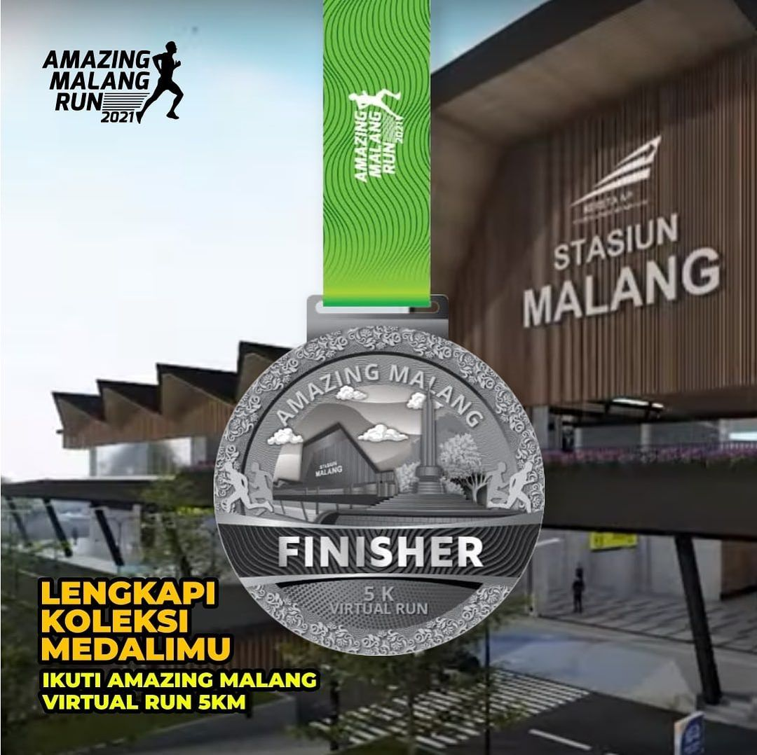 Medali 🏅 Amazing Malang Run • 2021
