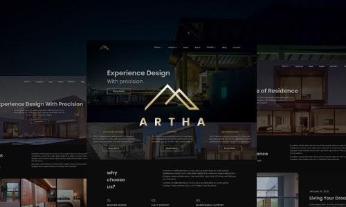 Artha - React Interactive Interior Template