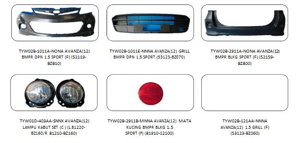 Bodypart Toyota Avanza 2012
