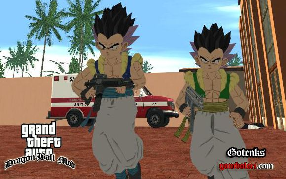 gta san andreas dragon ball mod