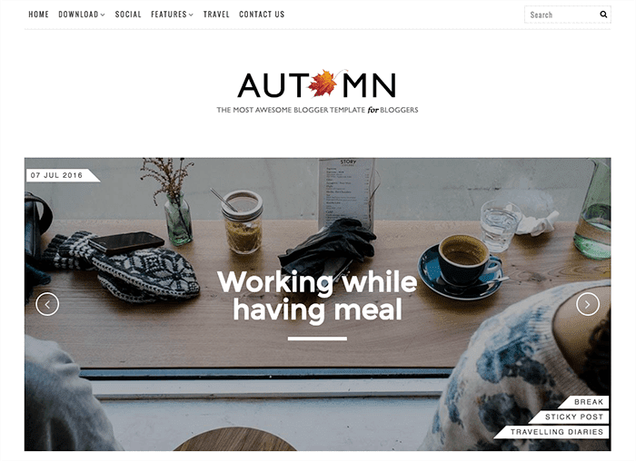 Blogger Template Autumn