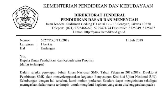 Soal Ujikom/Uji Kompetensi Keahlian/UKK SMK Tahun Pelajaran 2018/2019