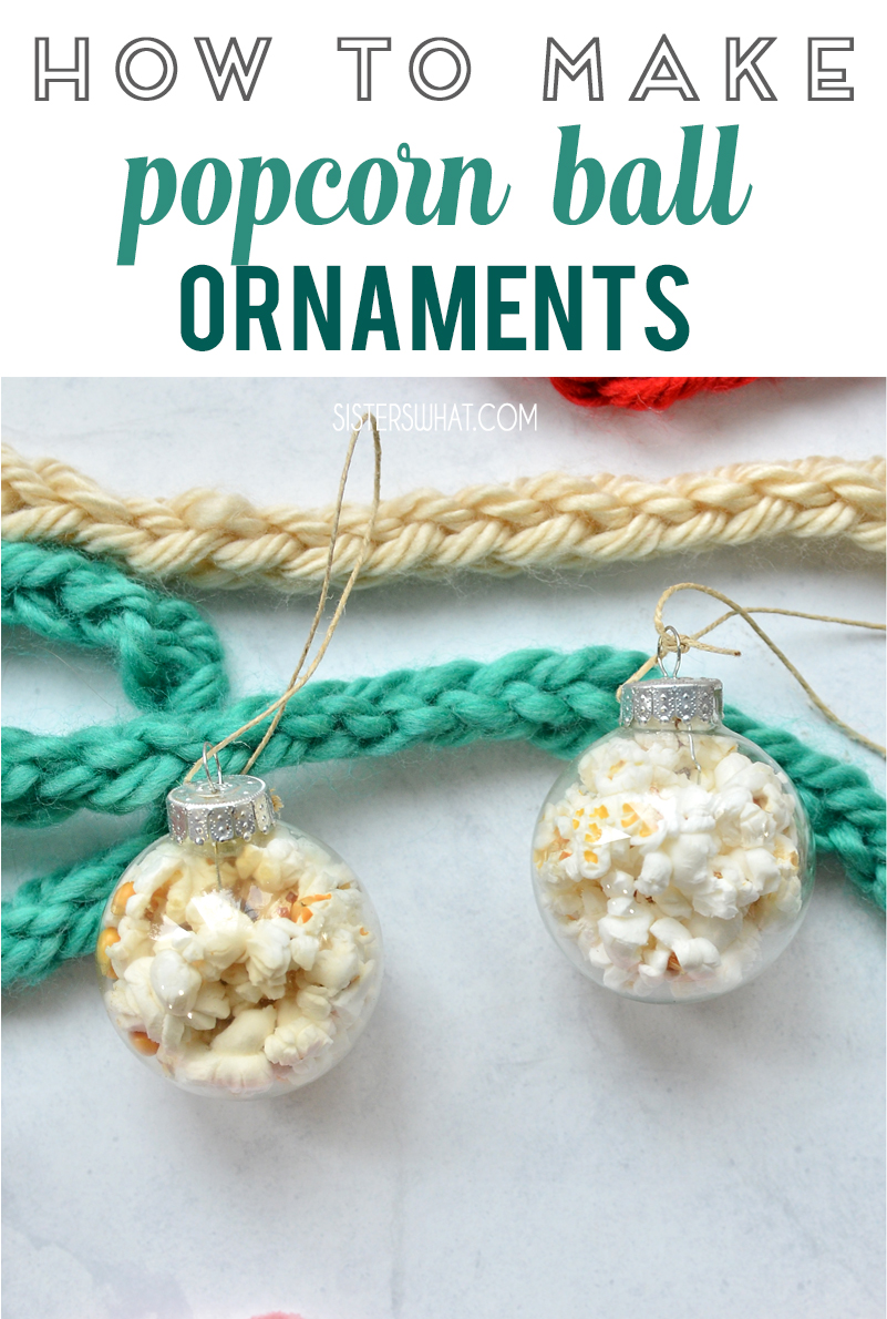how to make popcorn ball ornaments