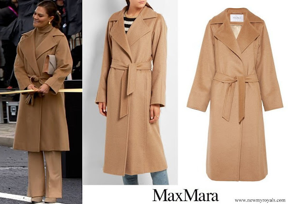 Crown Princess Victoria wore MAX MARA Belted camel hair coat