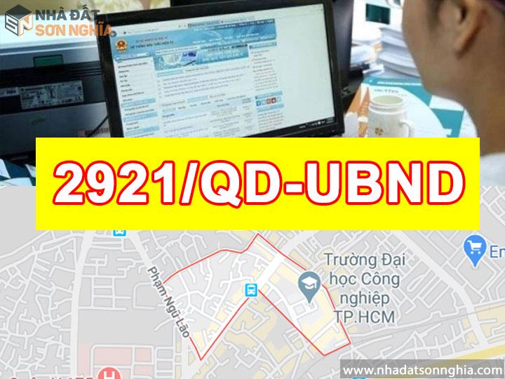 Quyết Định Số 2921/QĐ-UBND Quy Hoạch Khu Dân Cư Phường 4 Quận Gò Vấp