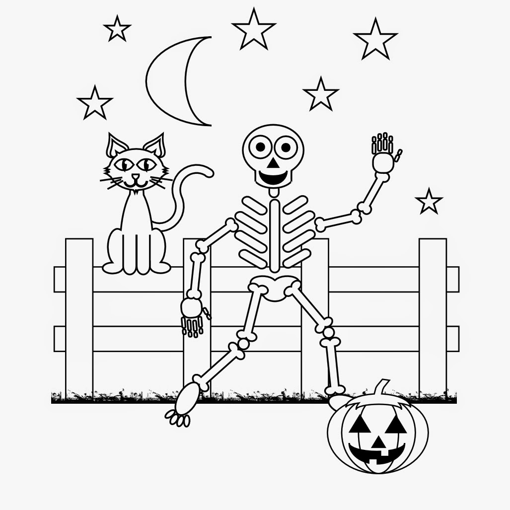 Halloween Skeleton Coloring Pages Printable
