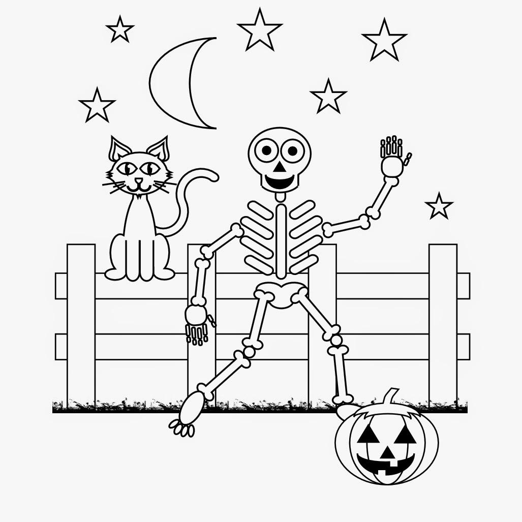 Halloween Skeleton Coloring Pages Printable