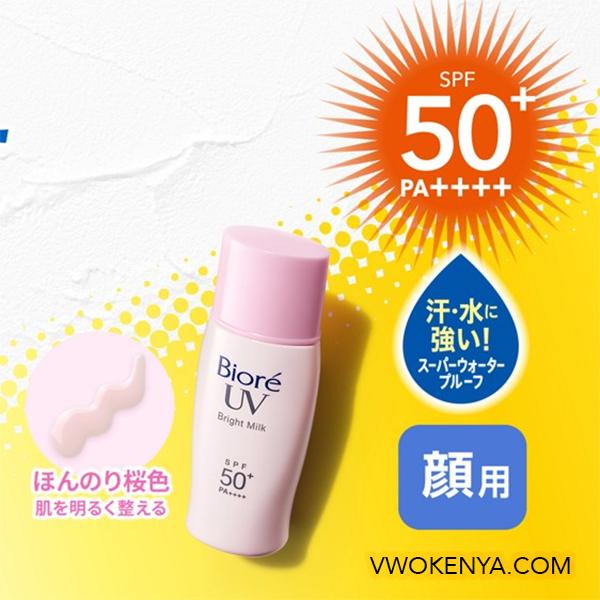 Kem chống nắng Biore màu hồng Biore UV Bright Milk SPF 50+ PA+++