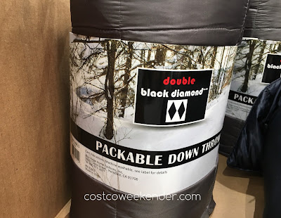 Costco 638823 - Double Black Diamond Packable Down Throw in color gray
