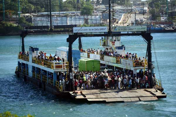 Likoni Ferry Channel banned from public walking passengers. PHOTO | NMG