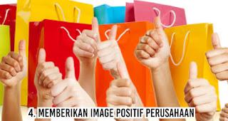 Memberikan image positif perusahaan merupakan salah satu fungsi merchandise untuk kegiatan promosi perusahaan