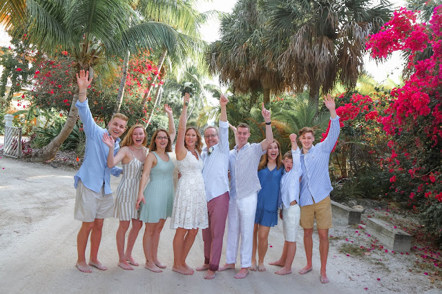 family portrait at an intimate wedding on north captiva island