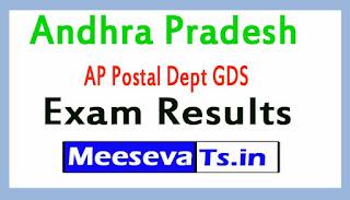 Andhra Pradesh AP Postal Dept GDS Exam Results / Merit List 2017