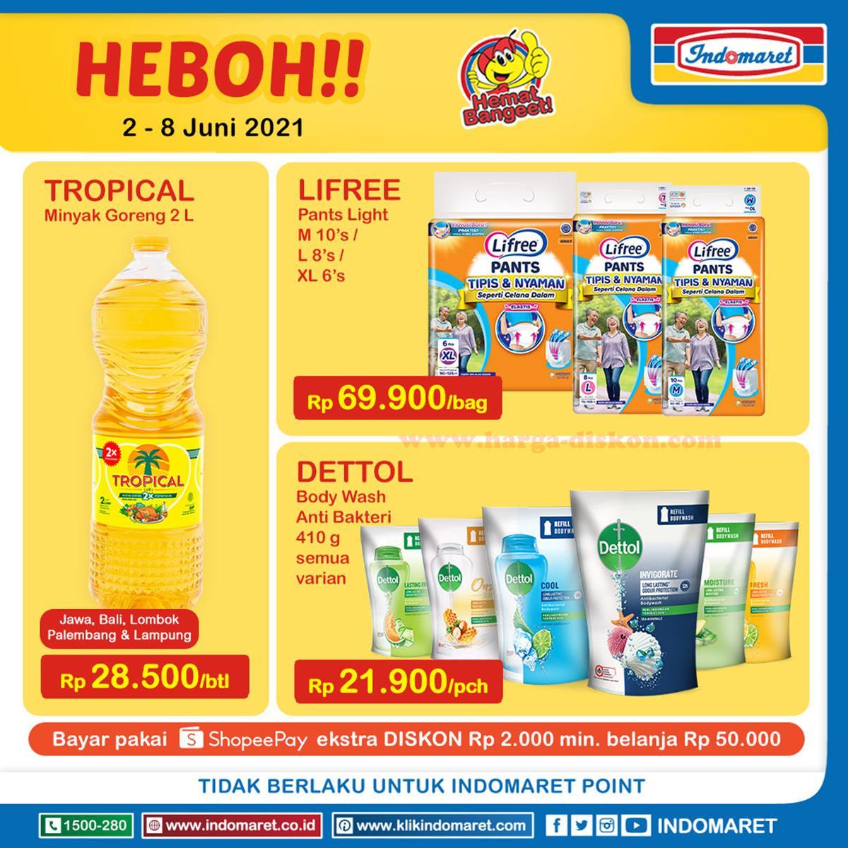 Promo INDOMARET Heboh, Product of The Week 02 - 08 Juni 2021