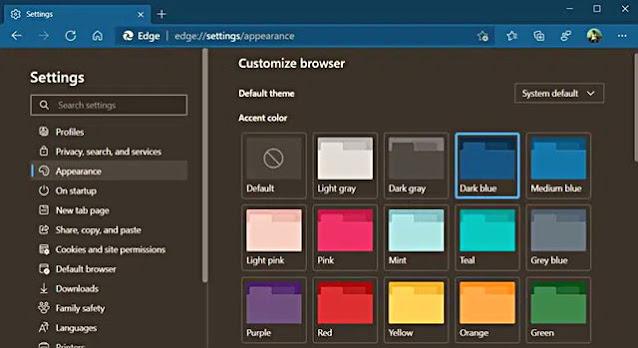 Edge Canary sürümüne gelen yeni özellik sayesinde tarayıcının renk şeması değiştirilebilecek.