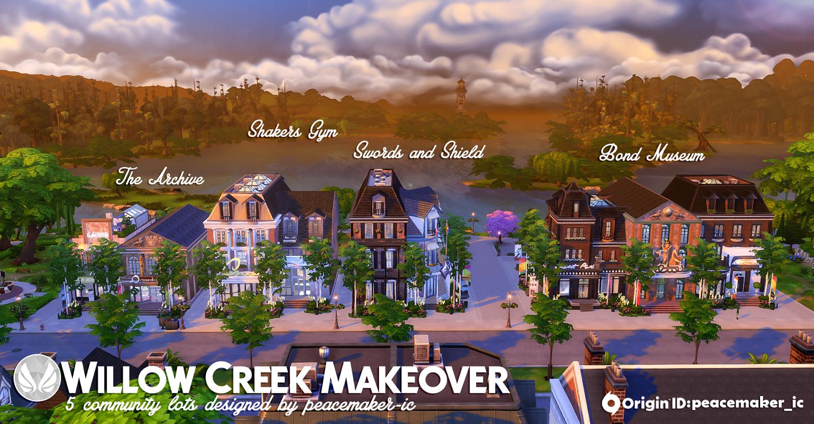 Simsational Designs: Willow Creek Makeover - Community Lots