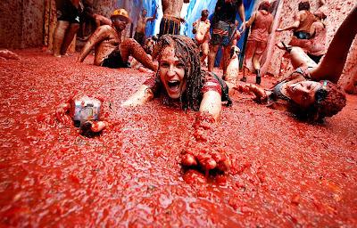 مهرجان التراشق بالطماطم فى اسبانيا لعام 2011
