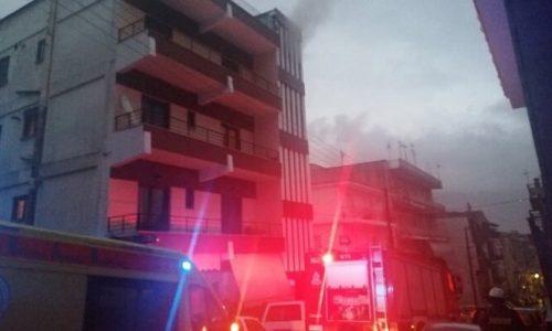 Σώα έβγαλαν οι πυροσβέστες μία ηλικιωμένη γυναίκα, όταν στο διαμέρισμα που διαμένει στην συμβολή των οδών Σπύρου Λάμπρου και Πανούση ξέσπασε φωτιά.