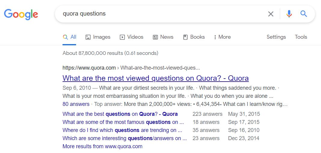 Generate Idea from Most Viewed Quora Questions