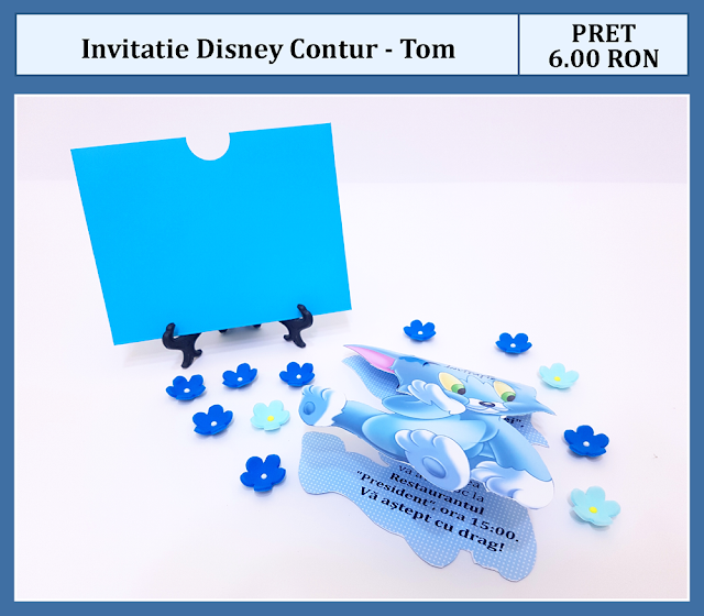 invitatii botez contur Tom