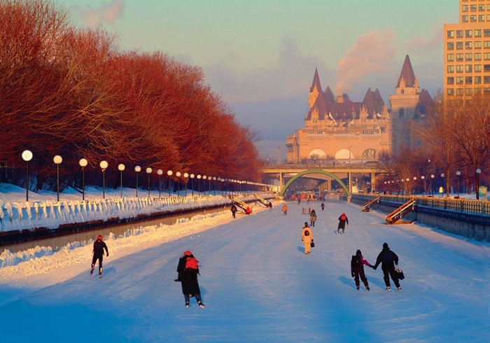 Ice Skating in Ottawa Canada On The Canals