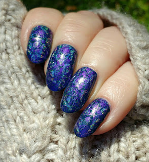 Fab Ur Nails FUN14 and SV by Sparkly Vernis Blurple Ice Cubes
