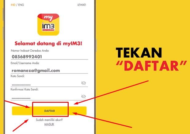 Memakai Aplikasi MyIm3 Untuk Cek No Indosat