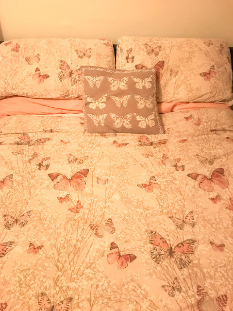 How to have a perfect pamper night - butterfly bedsheets