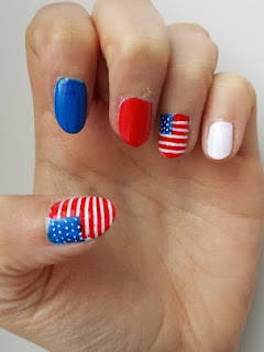 Clothes & Dreams: NOTD: American Flag nails!