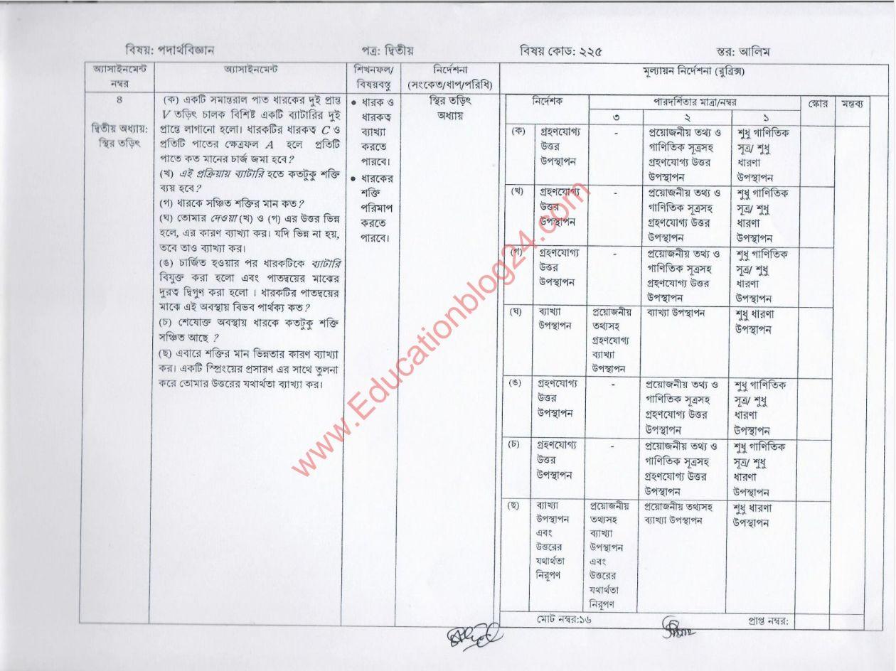 আলিম এসাইনমেন্ট ২০২২ উত্তর/সমাধান (৮ম সপ্তাহ) PDF,  ২০২২ সালের আলিম ৮ম সপ্তাহের এসাইনমেন্ট সমাধান /উত্তর   Alim 8 Week Assignment Answer 2022 PDF