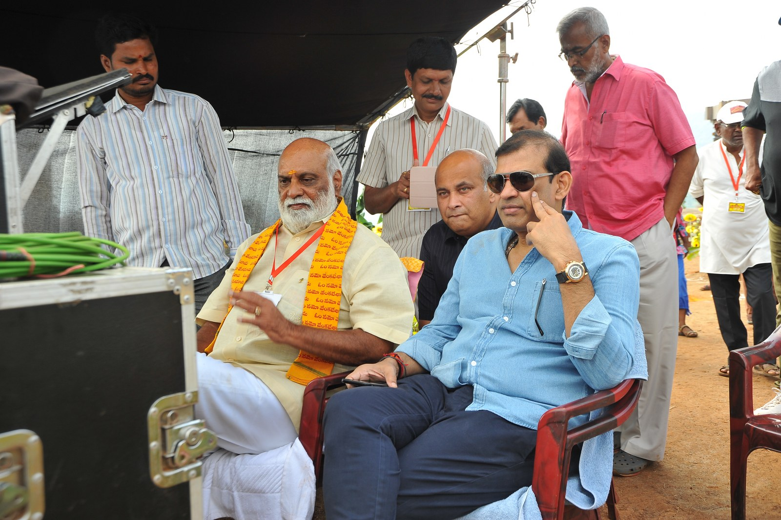 om namo venkatesaya working stills-HQ-Photo-12