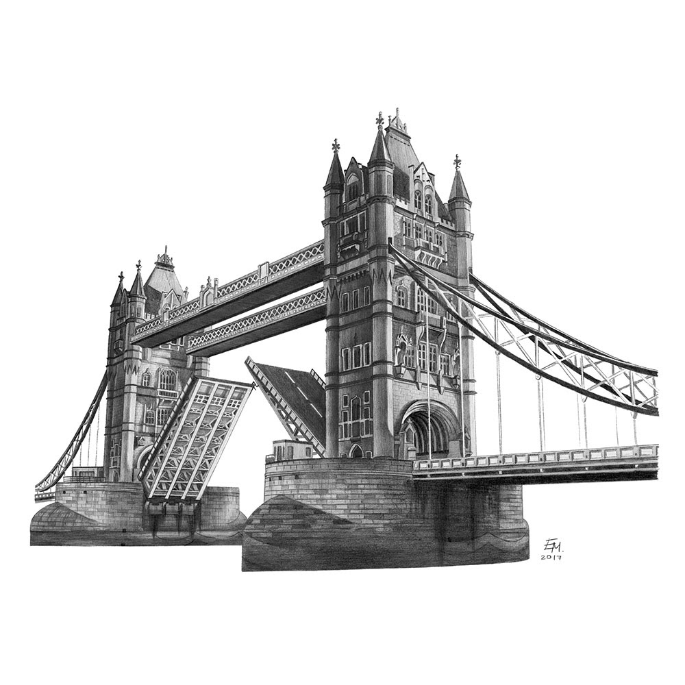 11-Tower-Bridge-UK-WIP-Elizabeth-Mishanina-Architecture-Immaculate-Drawing-Technique-www-designstack-co