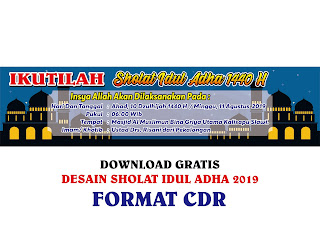 Contoh Desain Banner Sholat Idul Adha CDR, Ai, EPS, PNG