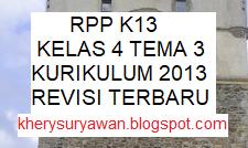 File Pendidikan Download RPP k13 Kelas 4 SD Tema 3 Lengkap Revisi Terbaru