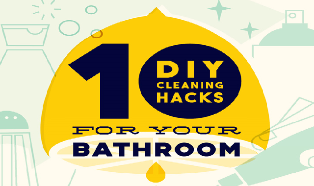 10 Diy Cleaning Hacks For Your Bathroom #infographic