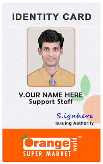 Departmental Store IDCard Template