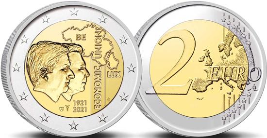 Belgium 2 euro 2021 - 100 years of the Belgium-Luxembourg Economic Union