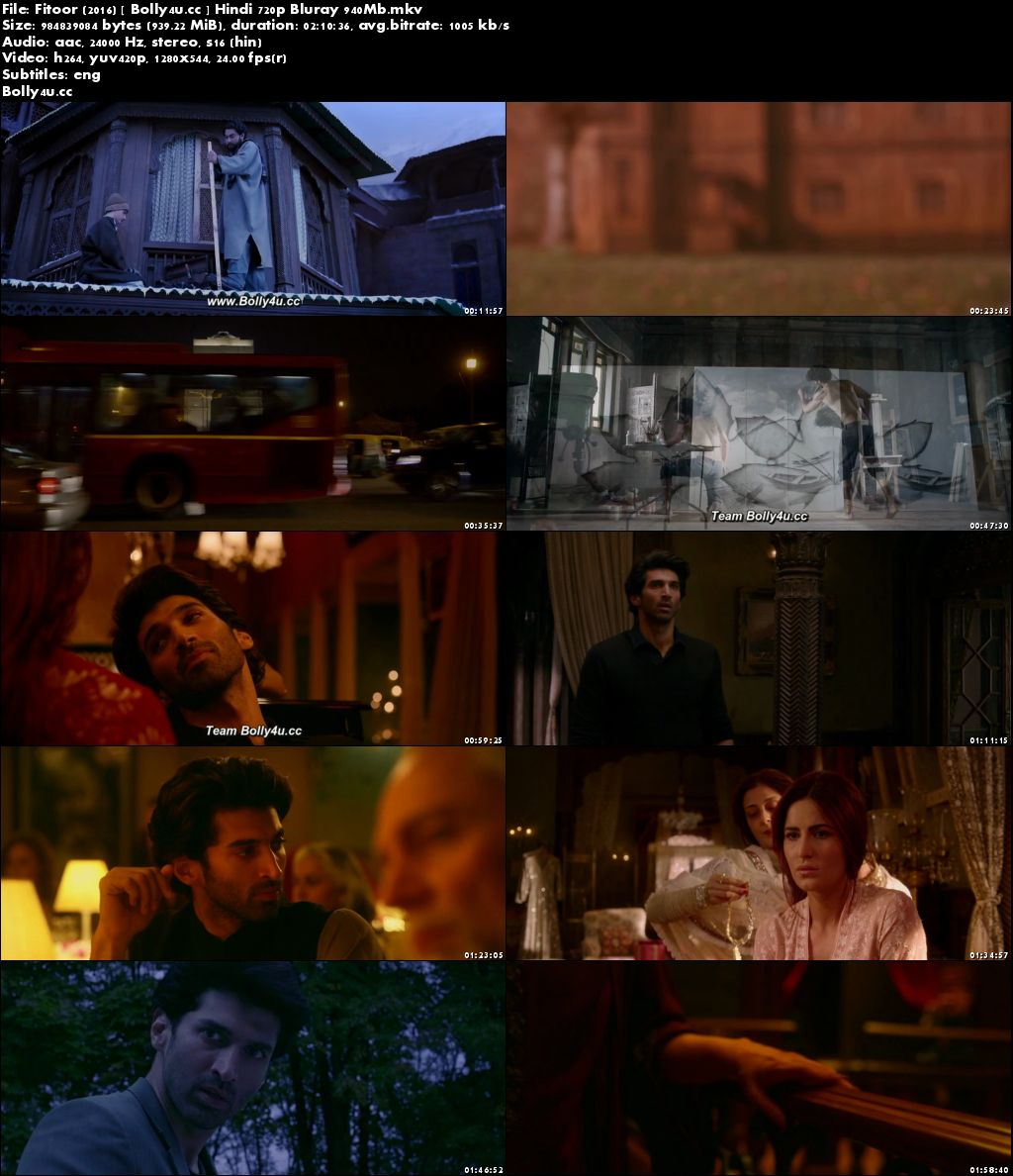 Fitoor 2016 BluRay 950MB Full Hindi Movie Download 720p