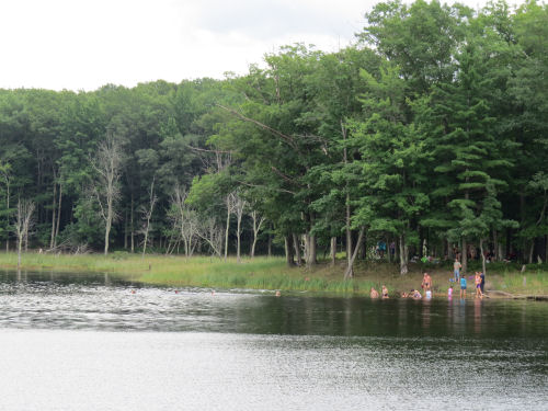 swimmers in Nordhouse Lake