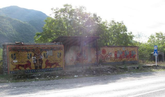 автобусная остановка в Грузии