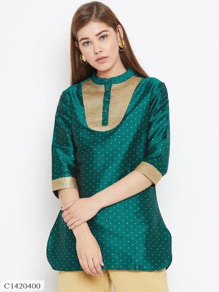 Womens Dupion Silk Embroidery Tunics Online Shopping | Embroidery Tunics Online | Top For Women |