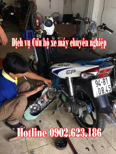 Cứu hộ sửa chữa xe Yamaha Nouvo LX tận nơi tại TpHCM