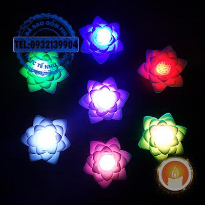 Đèn led hoa sen đổi màu