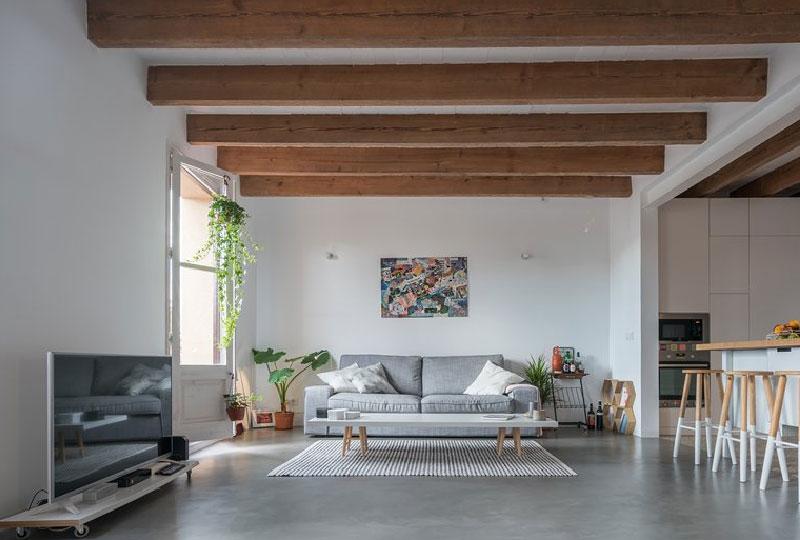 Nuovo lay out per un appartamento ristrutturato a Barcellona
