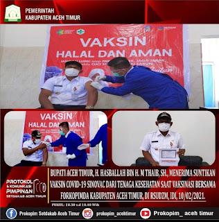 95.833 Masyarakat Aceh Timur Telah Divaksin
