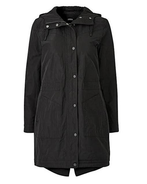 black padded parka