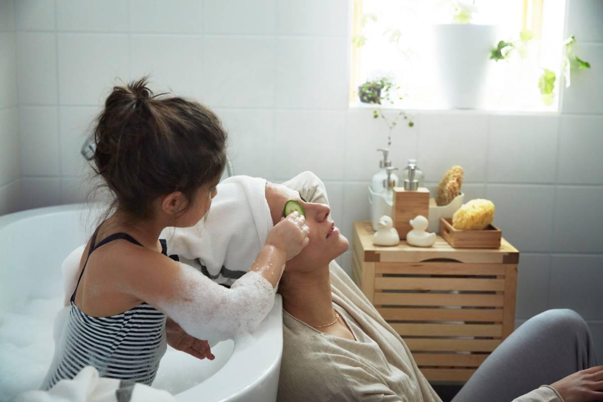 Momento relax en el baño