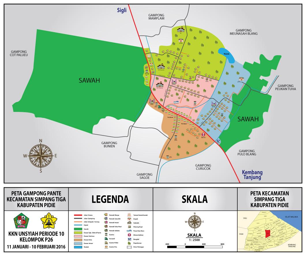 peta/map yang telah siap