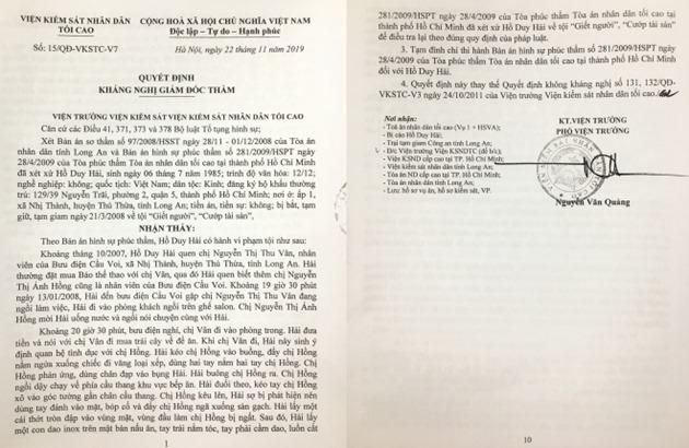 Điều tra viên vụ án Hồ Duy Hải có dấu hiệu phạm tội làm sai lệch hồ sơ vụ án