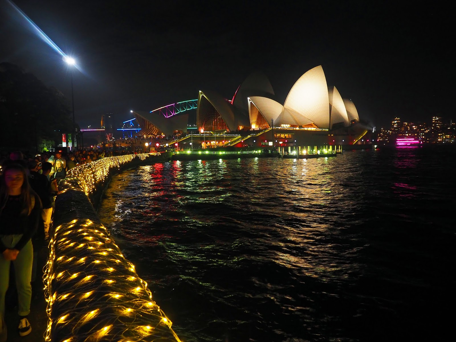 Foreshore and Opera House Vivid Festival Sydney